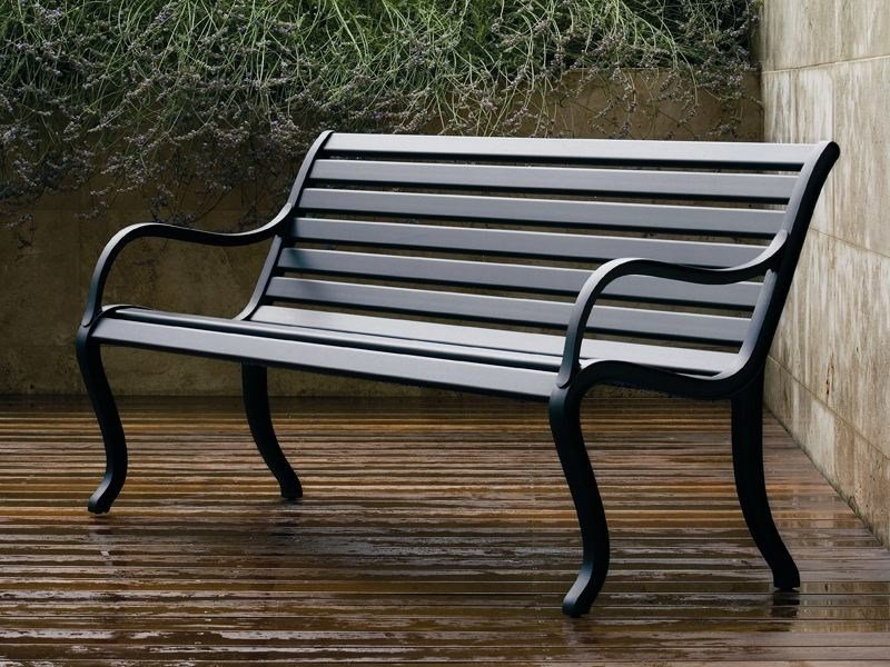 Aluminium Bench with back OASI by FAST