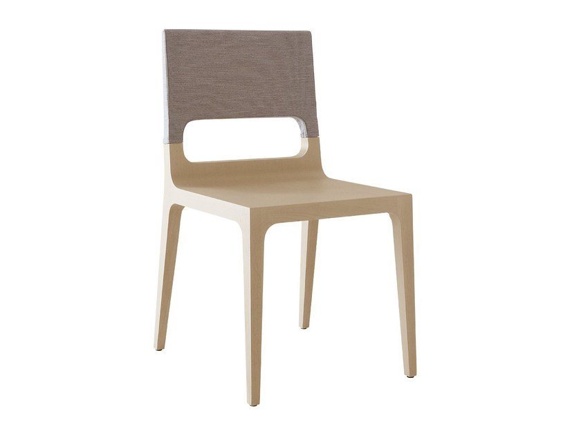 Oak chair with removable cover GINA by Ligne Roset
