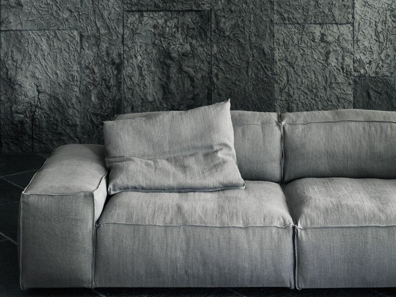 Sectional sofa with removable cover neowall by living for Living divani softwall