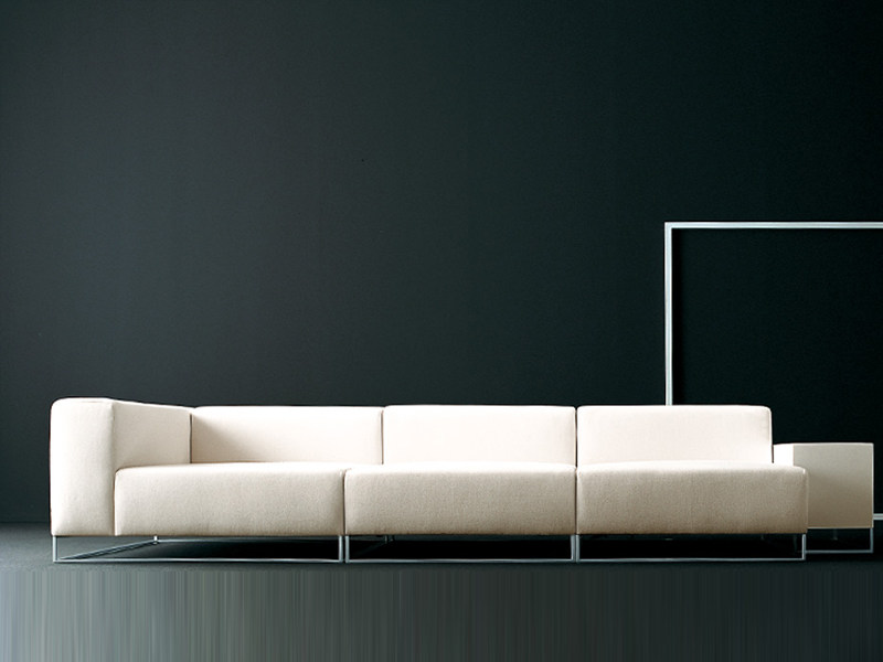Leather sofa WALL2 | Sofa by Living Divani