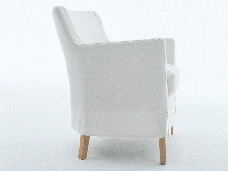 Upholstered armchair ARIEL by Living Divani