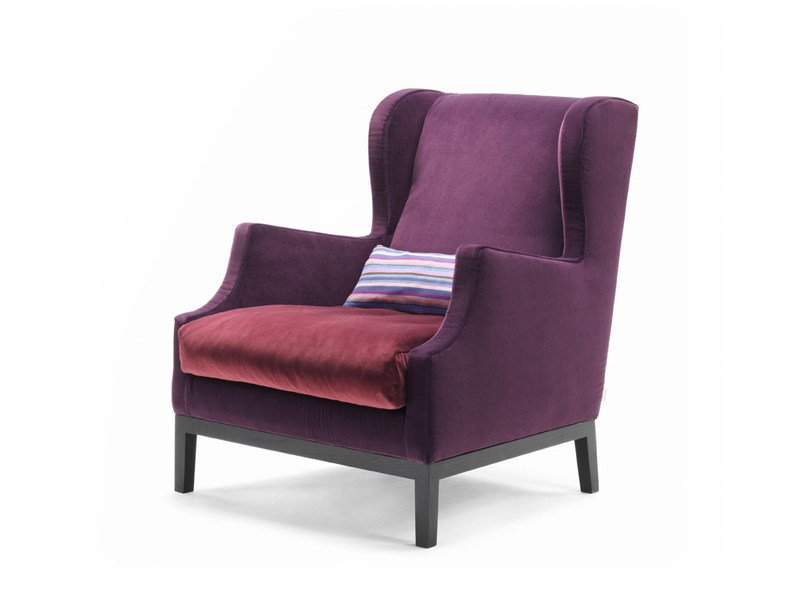 Upholstered fireside chair CHAUFFEUSE by Living Divani