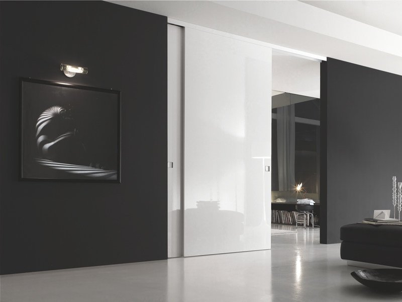 Lacquered Wooden Sliding Door B Move Luce By Bluinterni