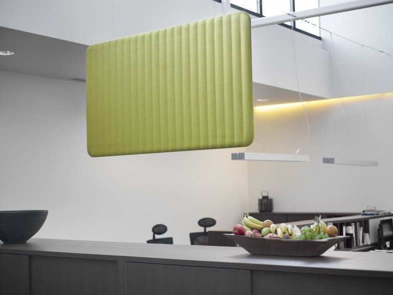 Sound attenuating suspended panel BuzziLoose by BuzziSpace