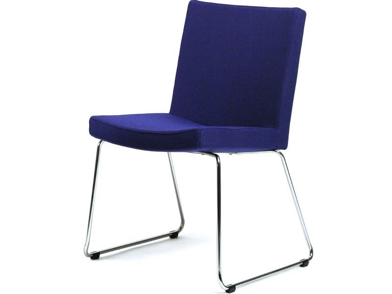 Sled base upholstered chair MEDIUM   Sled base chair by Inno