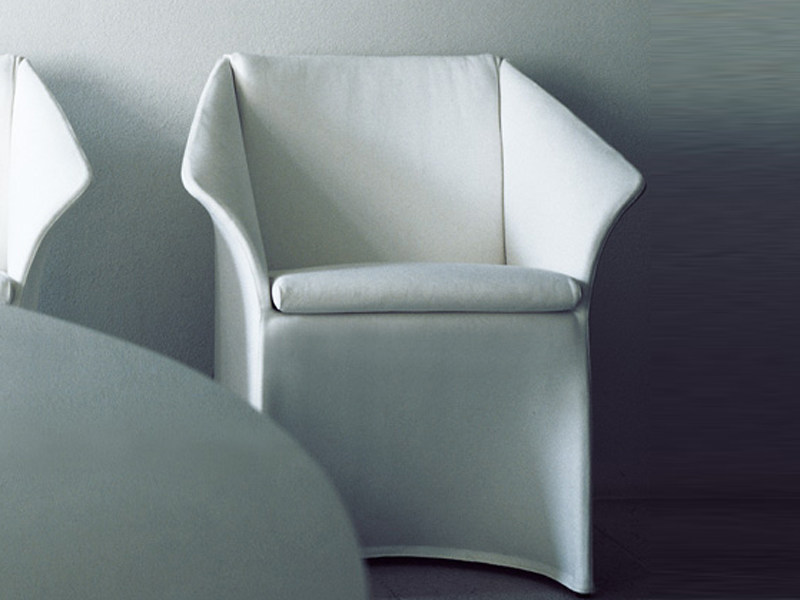 Upholstered armchair with armrests OPERA | Armchair by Living Divani