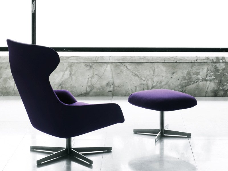 Swivel upholstered armchair READER | Swivel armchair by Living Divani