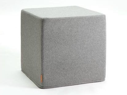 Upholstered felt pouf BUZZICUBE FLAT by BuzziSpace