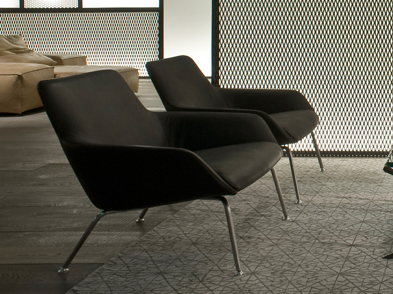 Upholstered armchair READER | Armchair by Living Divani