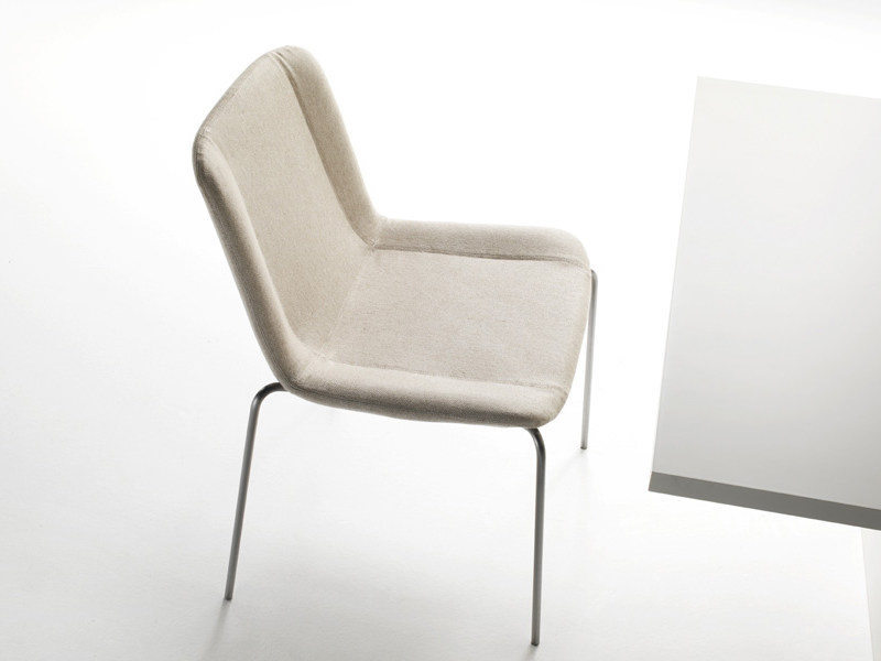 Upholstered chair WING by Living Divani