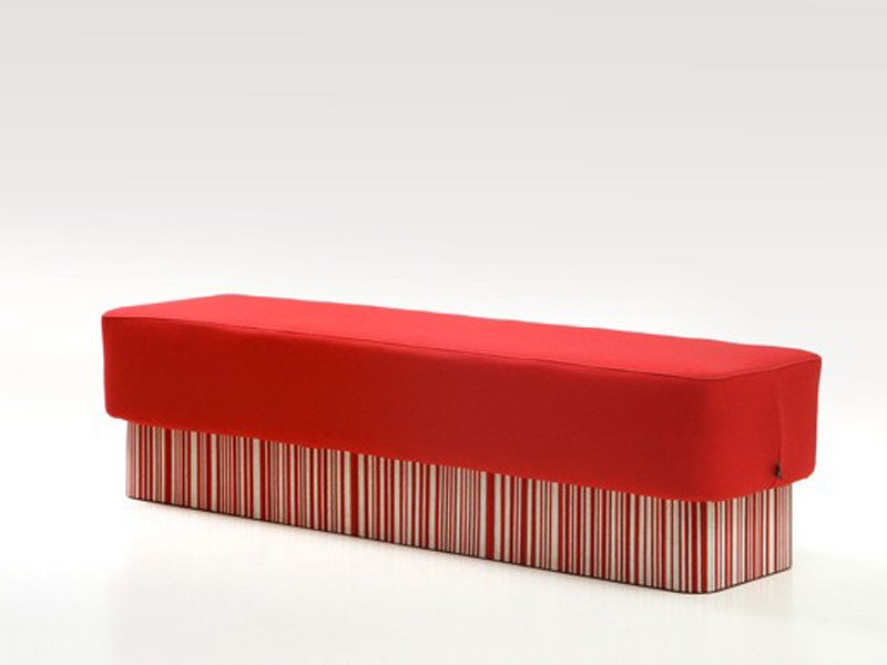 Upholstered recycled material bench BUZZISEAT QUATRO by BuzziSpace