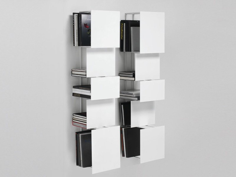 Wall-mounted steel bookcase BUKVA by Living Divani