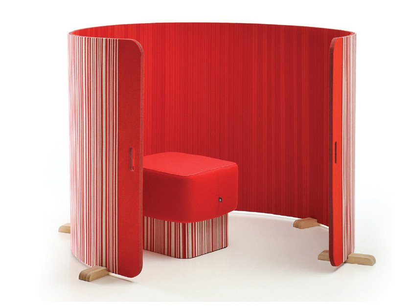 Painel divisor fono-absorvente modular BuzziTwist by BuzziSpace