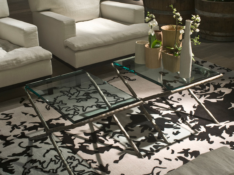 Rectangular crystal coffee table LITTLE NERO by Living Divani