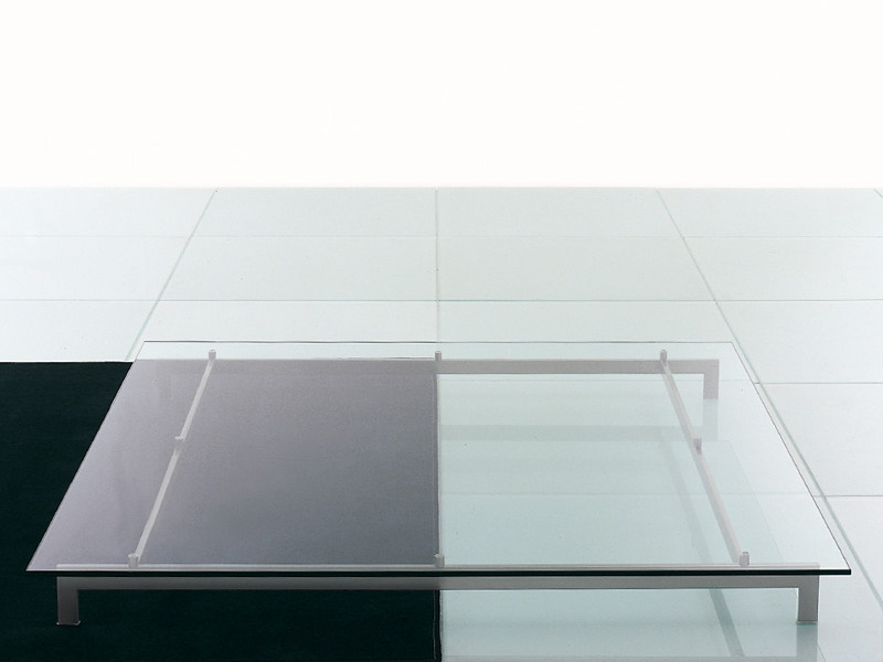 Square glass coffee table METRO² | Coffee table by Living Divani