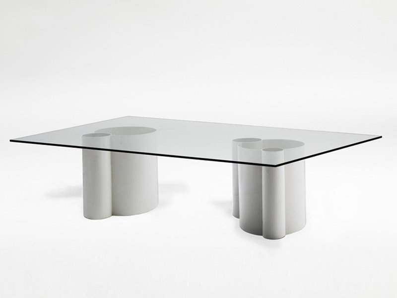 Rectangular crystal table TUBE | Table by Living Divani