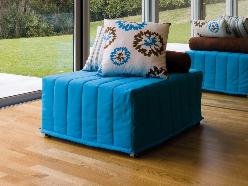 Upholstered pouf bed CHICK 2 | Pouf by Milano Bedding