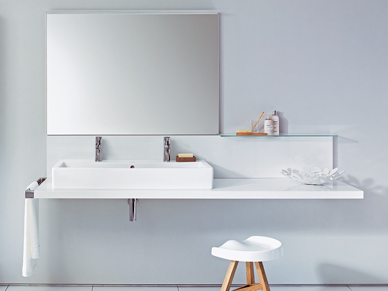 Single washbasin countertop DELOS   Washbasin countertop by Duravit