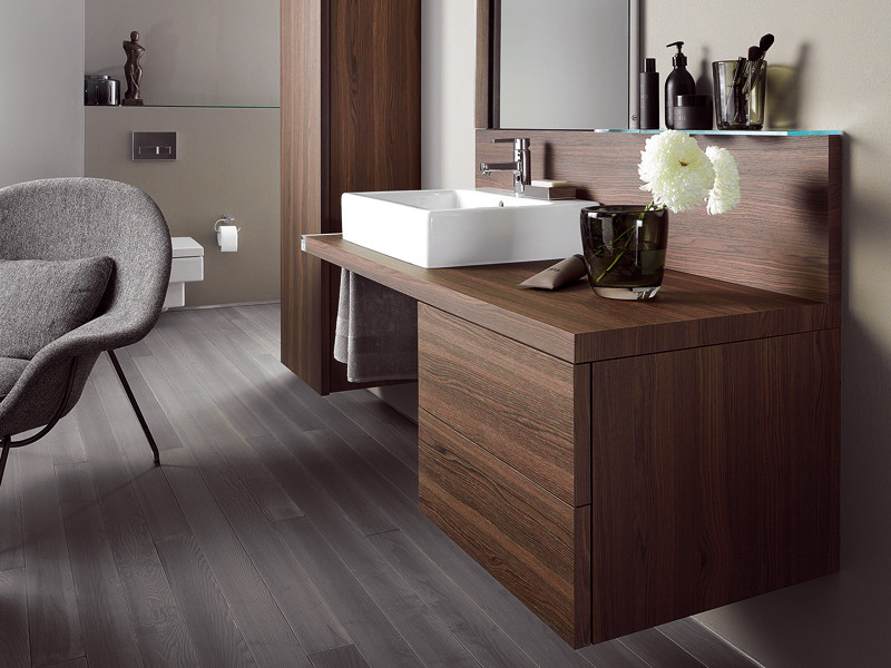 Wall-mounted vanity unit with mirror DELOS | Vanity unit by Duravit