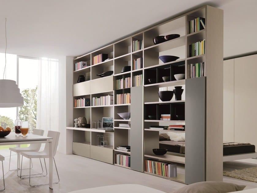 Link system libreria bifacciale by zalf - Libreria con ante ikea ...