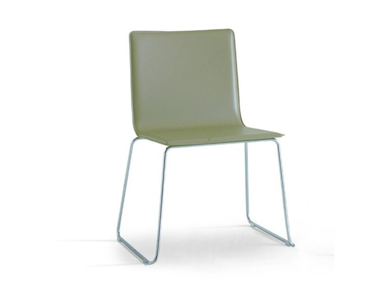 Sled base chair SLIM by Zalf