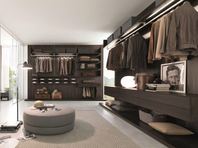 Wooden walk-in wardrobe PICÀ Z232 by Zalf
