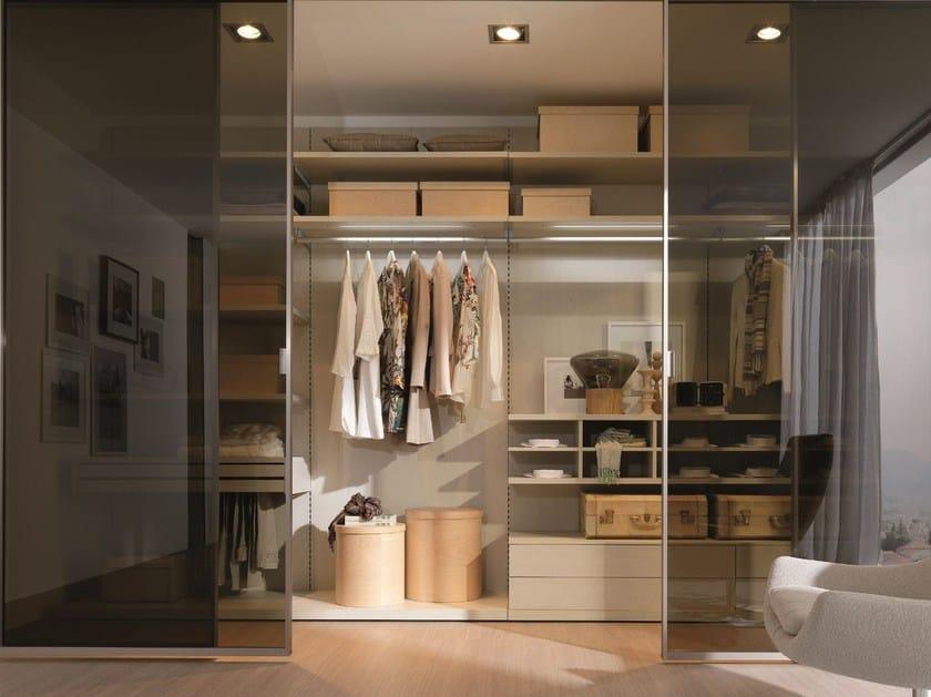 cabina armadio in legno e vetro pica' z208 - zalf