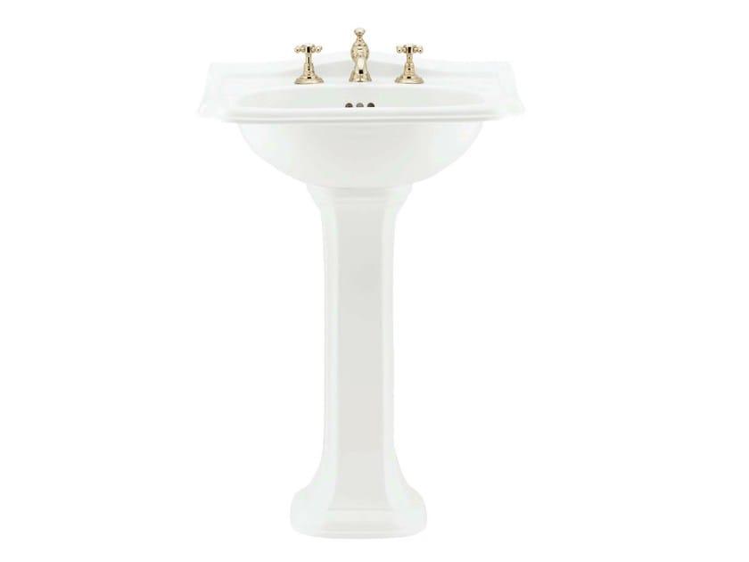 Pedestal porcelain washbasin BALASANI   Pedestal washbasin by GENTRY HOME
