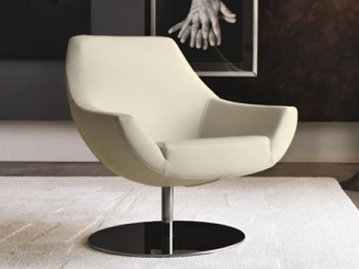 Swivel upholstered armchair POD by Désirée divani