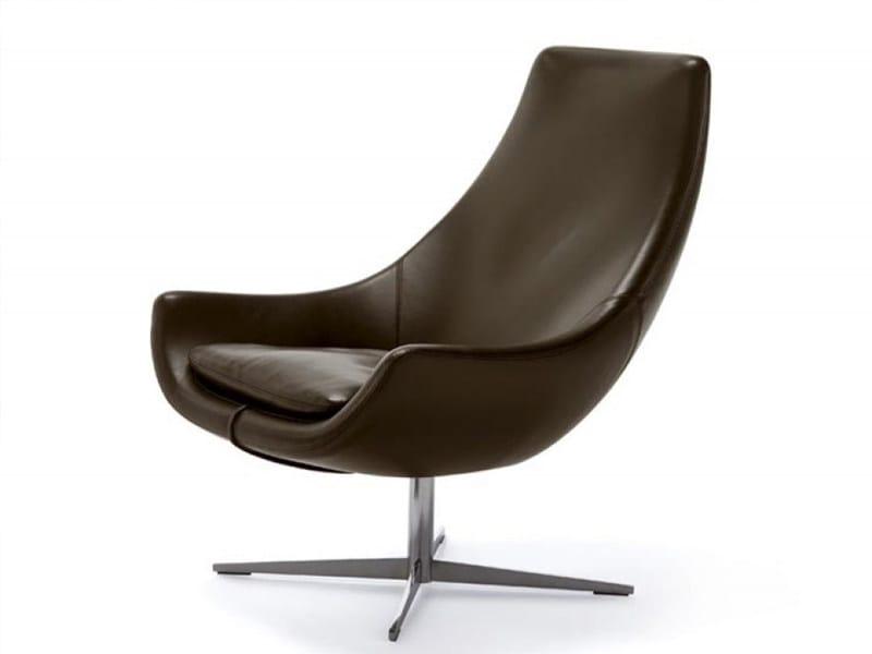 Swivel armchair EGO by Désirée divani
