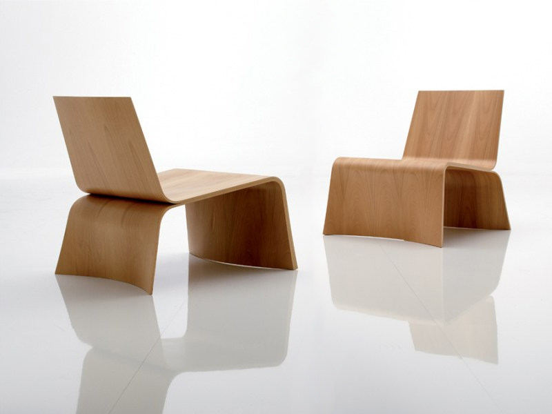 Multi-layer wood armchair UNA by Désirée divani