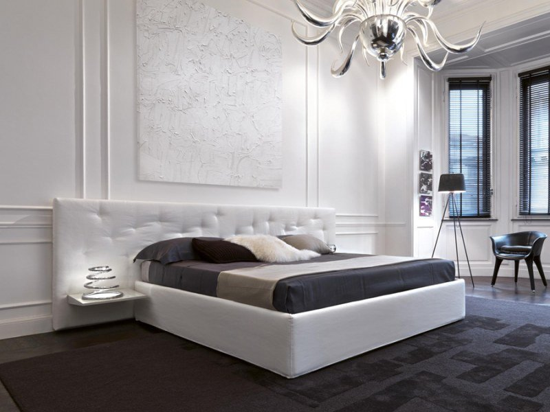 Double bed with high headboard CHANCE | Bed by Désirée divani