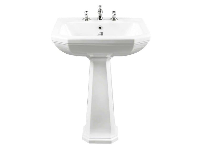 Pedestal porcelain washbasin CLAREMONT   Pedestal washbasin by GENTRY HOME