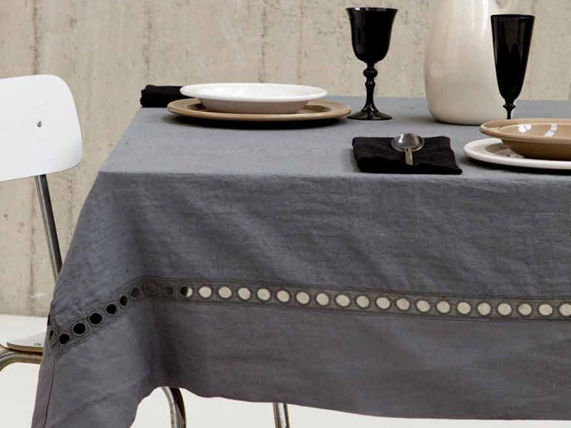 Linen tablecloth A'JOUR | Tablecloth by LA FABBRICA DEL LINO