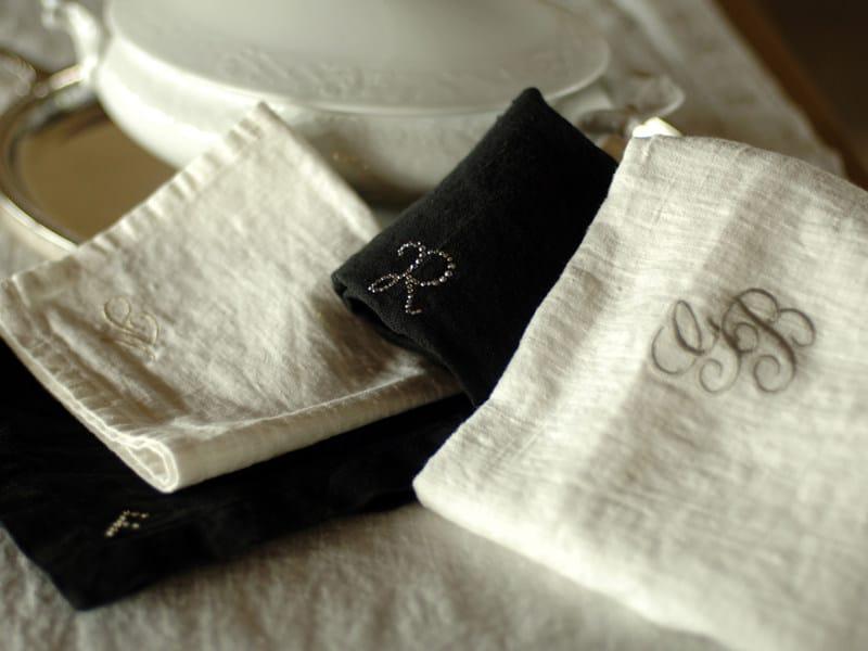 Linen table napkin PERSONALIZZAZIONI by LA FABBRICA DEL LINO