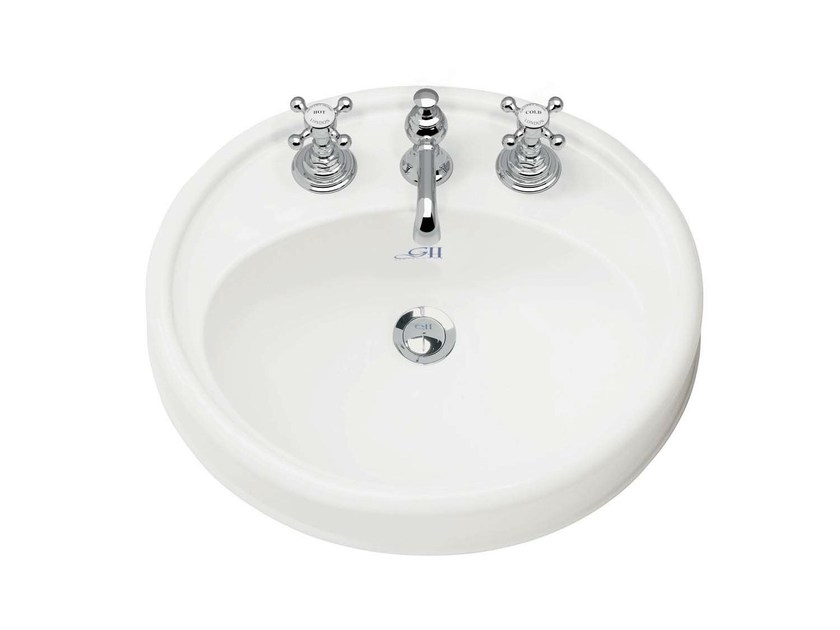 Inset porcelain washbasin HIGHGROVE   Inset washbasin by GENTRY HOME