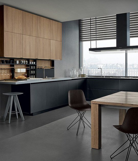 Poliform Kitchen Design. Lacquered wooden kitchen TWELVE by Varenna Poliform By design