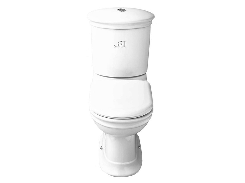 Close coupled porcelain toilet HILLINGDON   Close coupled toilet by GENTRY HOME