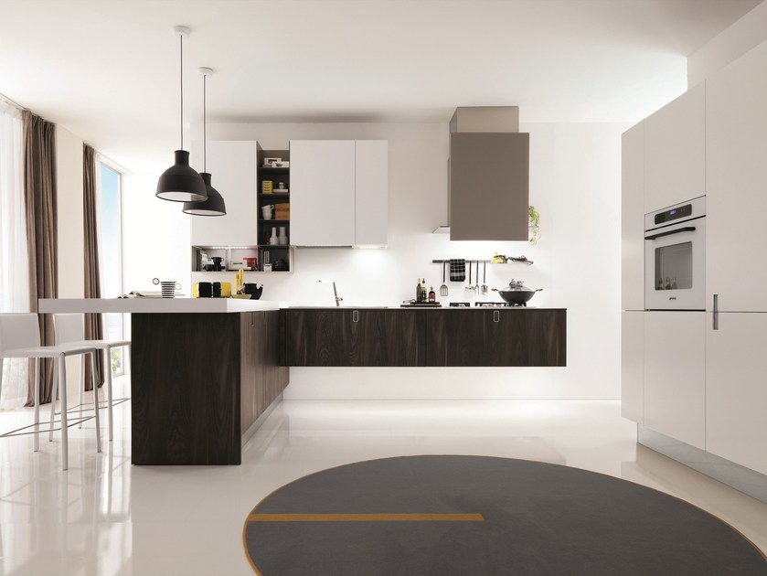 Contemporary style fitted kitchen LACLIP by Euromobil