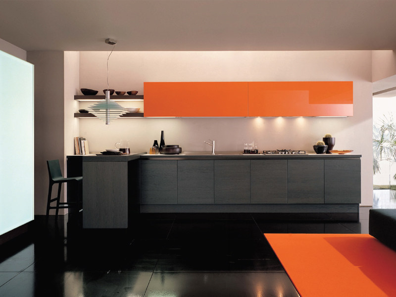 Fitted kitchen without handles FILOTABULA by Euromobil