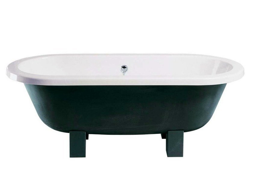 Classic style freestanding cast iron bathtub on legs LOTUS by GENTRY HOME