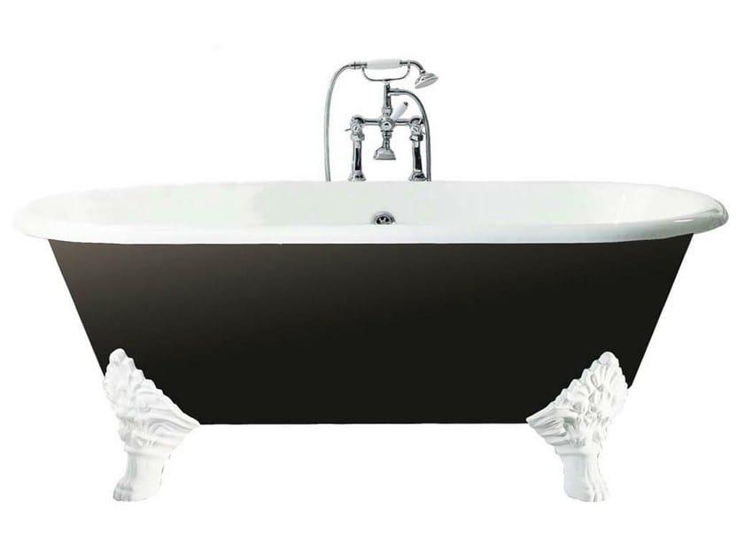 Dimensioni Vasca Da Bagno Classica : Vasca da bagno in ghisa su piedi carlton by gentry home