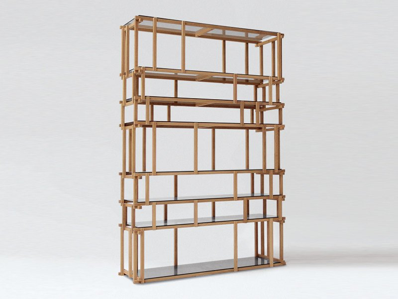 Divider wooden bookcase OFF CUT by Living Divani