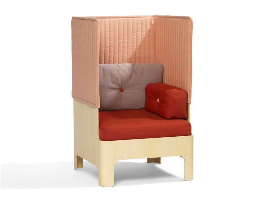 High-back fabric armchair KOJA | High-back armchair by Blå Station