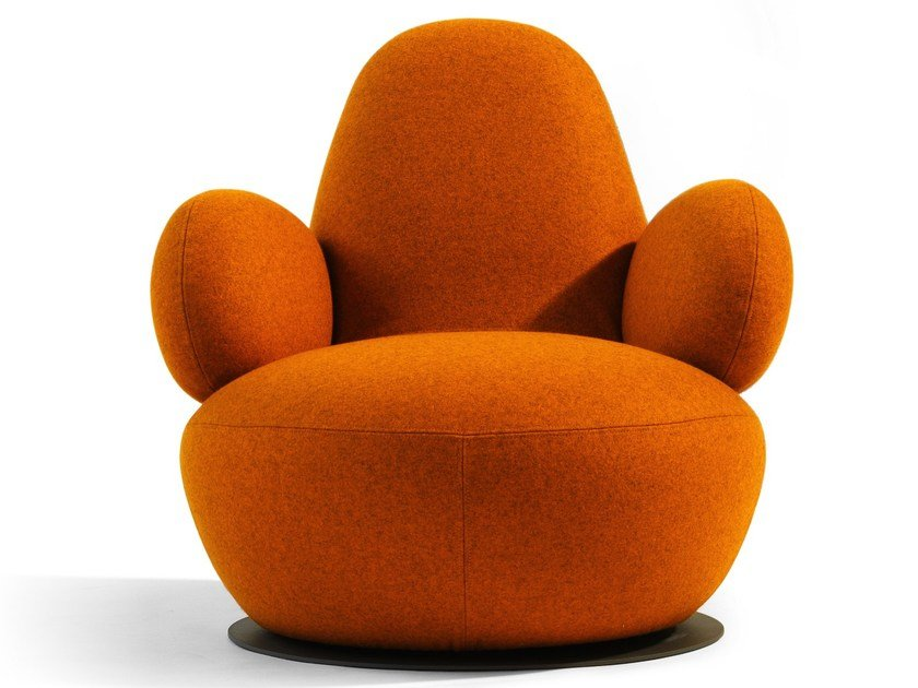 Swivel upholstered armchair OPPO | Armchair by Blå Station