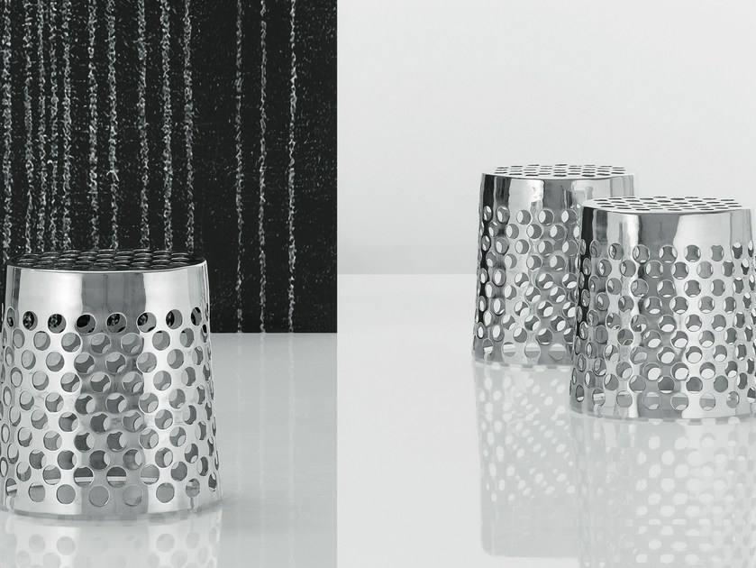 Aluminium coffee table CHEESE by poliform