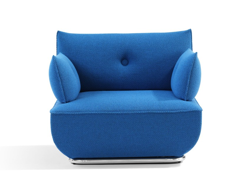 Upholstered Armchair With Armrests DUNDER | Armchair With Armrests By Blå  Station