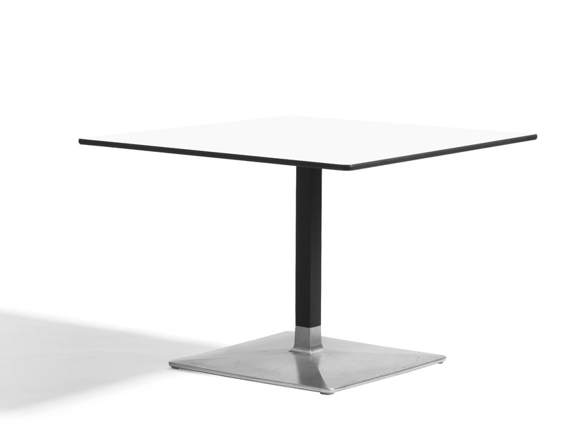 Square aluminium coffee table LEVEL | Square coffee table by Blå Station