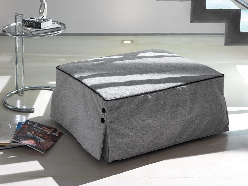 Upholstered pouf bed with removable lining BILL by Milano Bedding