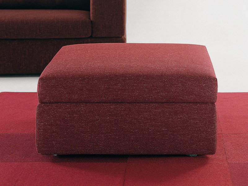 Storage upholstered pouf PAT | Pouf by Milano Bedding